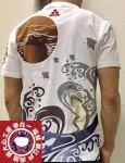 参丸一 サンマルイチ|おぼろ月 蛙カエル半袖Tシャツ ST-50049 黒/白