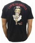 Low Blow Knuckle ローブローナックル|ナースベティ半袖Tシャツ 520857 黒/白