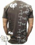 今昔 こんじゃく|狐の夏祭り半袖Tシャツ KJN-69001茶/ 黒/白