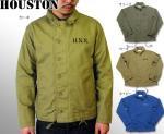 【HOUSTON/ヒューストン】N-1シャツジャケット 品番50082 色カーキ/オリーブ/ネイビー