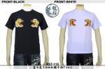 【龍桜】富士虎スカ柄刺繍半袖Tシャツ RST-115 色ブラック/ホワイト