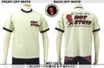 【テンストライク/TEN STRIKE】ホットスタッフ刺繍&抜染半袖Tシャツ ART-120