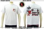 【テンストライク/TEN STRIKE】ホットスタッフ刺繍&抜染半袖Tシャツ AWT-120