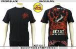 【テンストライク/TEN STRIKE】ホットロッド柄抜染&刺繍半袖Tシャツ AST-121