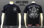 【ジャンキーズパラダイス/Junky's Paradise】スカル柄刺繍半袖Tシャツ JST-126