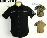 【HOUSTON/ヒューストン】US.AIRFORCEベトナムミリタリー半袖シャツ 品番4820 色ブラック/カーキ他