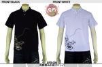 【花旅楽団】龍髑髏柄刺繍ポロシャツ 品番SPS-004 色ブラック/ホワイト