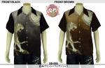 【花旅楽団】虎柄プリントハワイアンシャツ 品番SS-005 色ブラック/ブラウン