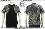 【龍桜】龍柄抜染プリント半袖Tシャツ RST-125 色ブラック/ネイビー