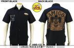 【テンストライク/TEN STRIKE】メキシカン柄抜染&刺繍ワークシャツ AWS-122
