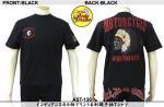 【テンストライク/TEN STRIKE】インディアンスカル柄プリント&刺繍半袖Tシャツ AST-130