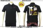 【テンストライク/TEN STRIKE】ロードランナー柄刺繍&プリント半袖ポロシャツ APS-124