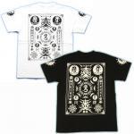 【マハースカ/梵字】大日護符Tシャツ MST-02 白/黒