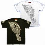 【マハースカ/梵字】阿弥陀来迎Tシャツ MST-12 白/黒