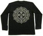 【マハースカ/梵字】毘盧遮那/長袖Tシャツ MSL-11 白/黒