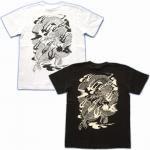 【紅雀】騎龍雷神/刺青風Tシャツ TS-29 白/黒