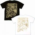 【紅雀】唐獅子牡丹/聖獣Tシャツ TS-05 白/黒