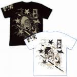 【紅雀】水滸伝張順/人物Tシャツ TS-07 白/黒