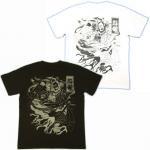 【紅雀】水滸伝公孫勝/人物Tシャツ TS-18 白/黒