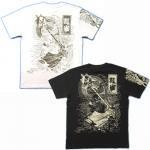 【紅雀】水滸伝花和尚/人物Tシャツ TS-08N 白/黒
