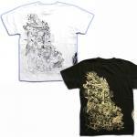 【紅雀】地獄絵図Tシャツ TS-23 白/黒