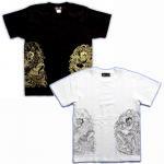 【紅雀】騎龍風神雷神Tシャツ TS-25 白/黒