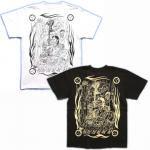 【紅雀】酒呑童子と阿吽鬼Tシャツ(日本書紀) TS-31 白/黒