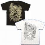 【紅雀】鳳凰梵字酉年/刺青風Tシャツ TS-36 白/黒