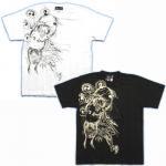 【紅雀】風神雷神/刺青風Tシャツ TS-56 白/黒