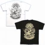 【紅雀】愛染明王/仏像Tシャツ TS-62 白/黒