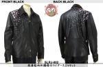 【花旅楽団】枝垂桜柄刺繍襟付ライダースジャケット  品番SLRJ-002 色ブラック