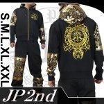 【JP2nd】トライバル・エンジェルクロス柄刺繍セットアップ 品番2SU-301 色ブラック