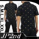【JP2nd】サークルスカル柄刺繍半袖ポロシャツ 2PS-301 色ブラック/GO・PI