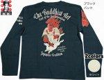【爆烈爛漫娘】THE BUDDHIST ART長袖Tシャツ RMLT-233 ブラック/ホワイト