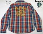 【LOW BLOW KNUCKLE(ローブローナックル)】チェーン刺繍 チェックネルシャツ 56150