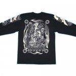 【紅雀】酒呑童子デザイン長袖Tシャツ LT-31 黒/白