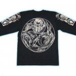 【紅雀】巴龍デザイン長袖Tシャツ LT-32 黒/白