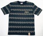 【爆烈爛漫娘】ドクロボーダー半袖Tシャツ RMT-244 ネイビー/ホワイト