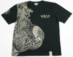 【爆烈爛漫娘】花魁半袖Tシャツ RMT-241 ブラック/ホワイト