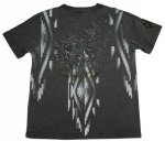 【Flag Staff/フラッグスタッフ】スカルアメリカン刺繍半袖Tシャツ 442517