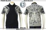 【龍桜】座観音柄抜染ポロシャツツ RPS-402 ブラック/ネイビー