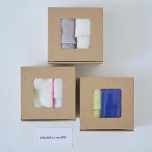 Gift Box _ Linen無地大判ハンカチ 2枚set