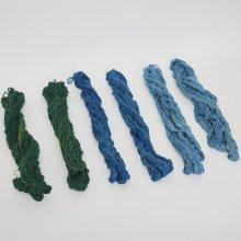手紡ぎ 天然染めの糸