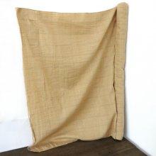 手紡ぎの布 コットンシルクベージュ