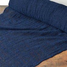 手紡ぎの布 あま織り 藍