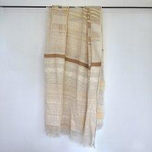 手紡ぎ 透かしあま織りショール