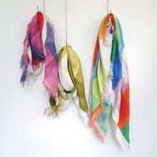 handmade わたガーゼストール_Water window