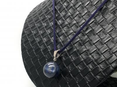 天然石 カイヤナイト 20ミリ! 大粒 ネックレス