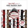 【予約商品】 Echo Park ダブルサイドペーパーパッド 6インチ 24枚 (Let's Lumberjack)