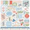 【予約商品】  Echo Park Paper Salutations No. 1 Cardstock Stickers 12インチ (Elements)